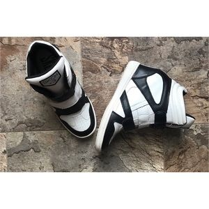 High top wedge sneakers